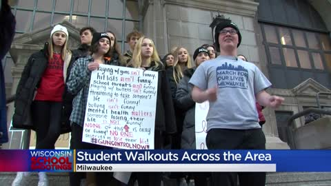 ' Students speak out against gun violence at Milwaukee County...